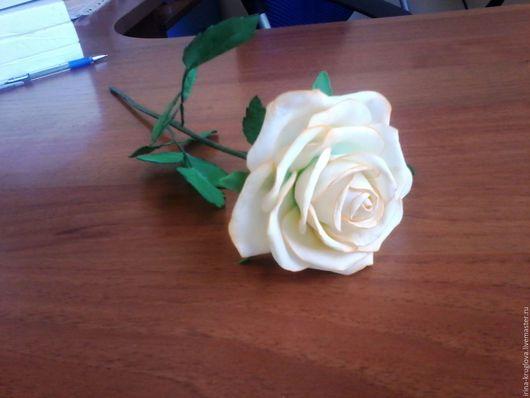 """Цветы ручной работы. Ярмарка Мастеров - ручная работа. Купить Роза на  стебле  """"Ингрид"""". Handmade. Комбинированный, роза ручной работы"""