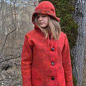 """Одежда ручной работы. Ярмарка Мастеров - ручная работа Валяное пальто """"Ягодка"""". Handmade."""