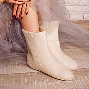 Аксессуары handmade. Livemaster - original item Socks felted felt socks made of Merino wool. Handmade.