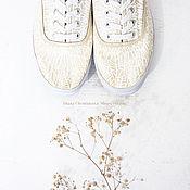 """Обувь ручной работы. Ярмарка Мастеров - ручная работа Кеды """"Beige"""" кеды с росписью.. Handmade."""