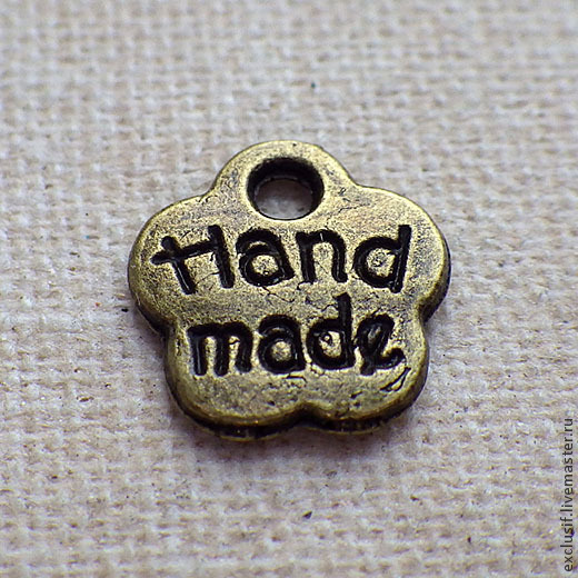 """Для украшений ручной работы. Ярмарка Мастеров - ручная работа. Купить Подвеска-бирка с надписью """"Hand made"""" (хенд мейд). Handmade."""