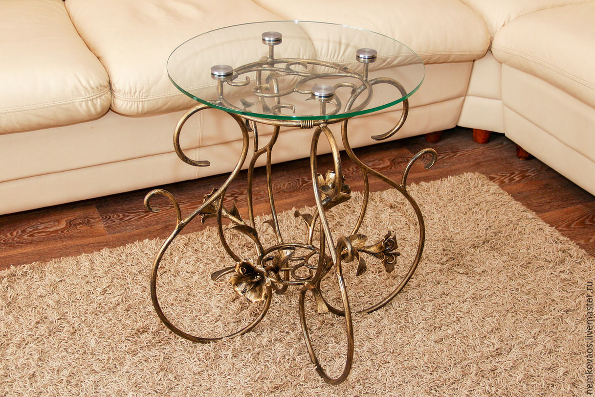 Furniture handmade livemaster handmade buy wrought iron coffee table
