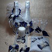 Свадебный салон ручной работы. Ярмарка Мастеров - ручная работа Набор для свадьбы Бело-синий. Handmade.