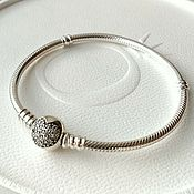 Основа для браслета из серебра Сияющее сердце