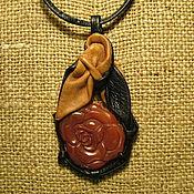 Украшения ручной работы. Ярмарка Мастеров - ручная работа Роза из сердолика. Handmade.