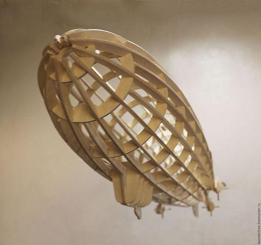 Элементы интерьера ручной работы. Ярмарка Мастеров - ручная работа. Купить модель дирижабля. Handmade. Бежевый, пазлы из дерева