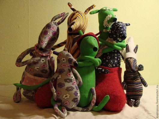 Игрушки животные, ручной работы. Ярмарка Мастеров - ручная работа. Купить мюкла Петсон и Финдус. Handmade. Семейный подарок