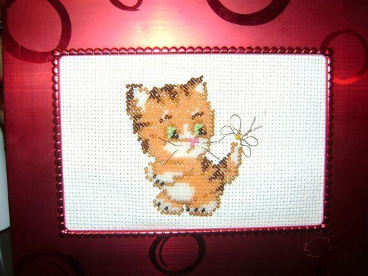 Животные ручной работы. Ярмарка Мастеров - ручная работа. Купить Рыжий котик. Handmade. Рыжий, котенок, бабочка, усы, белый