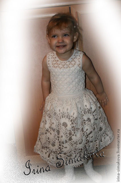 """Платья ручной работы. Ярмарка Мастеров - ручная работа. Купить платье """"Подружка невесты"""". Handmade. Белый, платье вязаное крючком"""