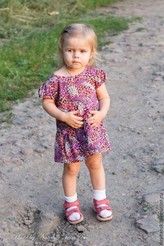 Одежда для девочек, ручной работы. Ярмарка Мастеров - ручная работа. Купить Детское платье для девочки Поляна. Handmade. Цветочный, поляна