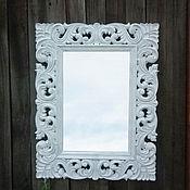 Для дома и интерьера ручной работы. Ярмарка Мастеров - ручная работа Зеркало в деревянной раме, стиль прованс. Z9.. Handmade.