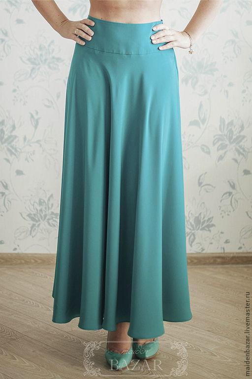 Длинная юбки на кокетке фото