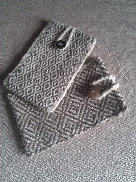 Для телефонов ручной работы. Ярмарка Мастеров - ручная работа. Купить Тканый чехол для телефона. Handmade. Серый, ручное ткачество
