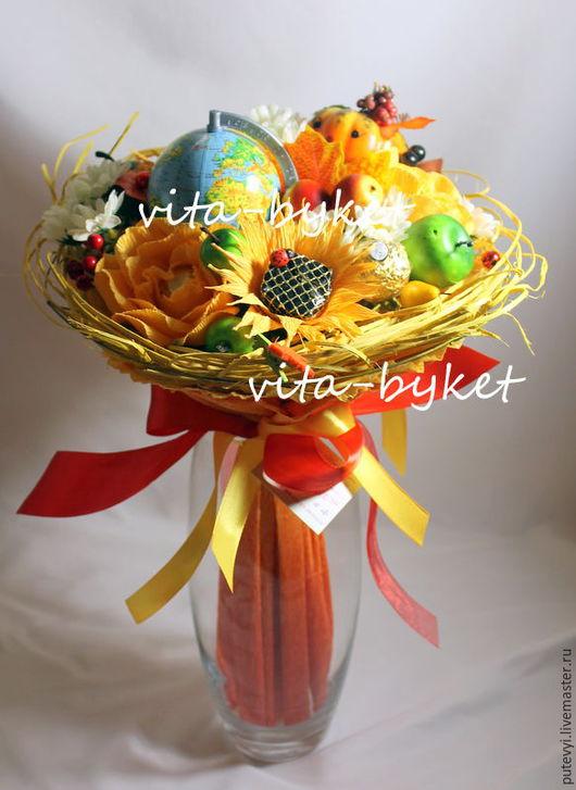 """Букеты ручной работы. Ярмарка Мастеров - ручная работа. Купить Букет из конфет """"Яркая осень"""" букеты из конфет на 1 сентября. Handmade."""