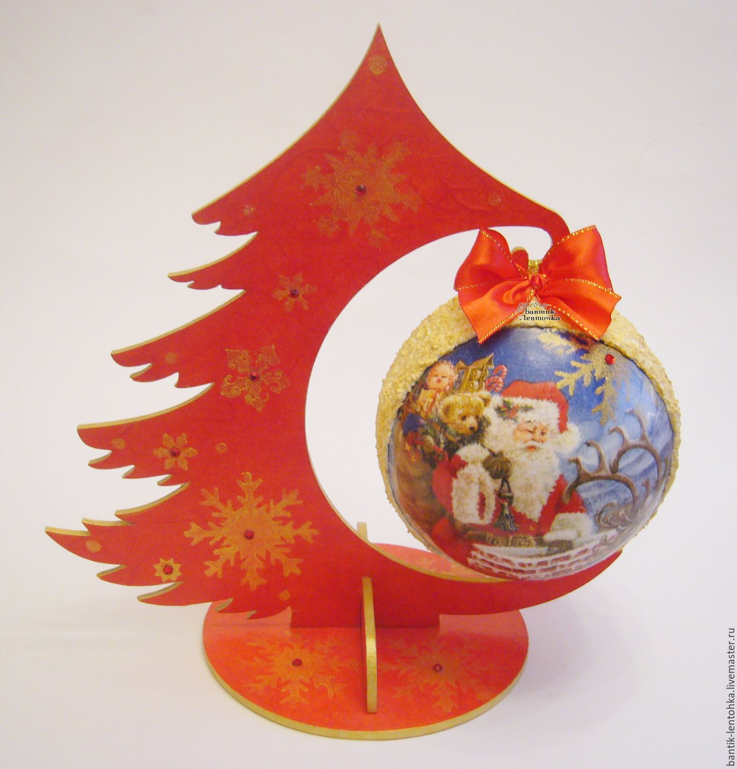 In stock. Herringbone-suspension with ball 12 cm'New year', Tree, Moscow,  Фото №1