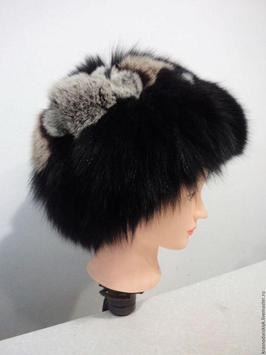 Шапки ручной работы. Ярмарка Мастеров - ручная работа. Купить Теплая зимняя шапка из натурального меха. Handmade. Комбинированный