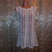 Одежда ручной работы. Ярмарка Мастеров - ручная работа Туника белая. Handmade.