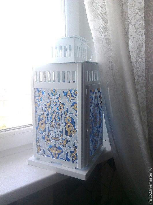 """Подсвечники ручной работы. Ярмарка Мастеров - ручная работа. Купить фонарь для свечи """"Марокко"""" большой. Handmade. Разноцветный, подсвечник ручной работы"""
