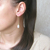 Украшения handmade. Livemaster - original item Long earrings with Swarovski pearls