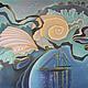 Фантазийные сюжеты ручной работы. Ярмарка Мастеров - ручная работа. Купить Картина Сны Антареса выполненная на шелке в технике батика. Handmade.