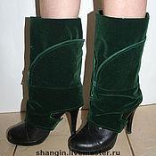 Обувь ручной работы. Ярмарка Мастеров - ручная работа Волшебные сапожки - Изумрудная пара. Handmade.