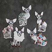 Нашивки ручной работы. Ярмарка Мастеров - ручная работа Аксессуары: Нашивки кошки. Handmade.