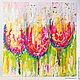 """Абстракция ручной работы. Ярмарка Мастеров - ручная работа. Купить Авторская картина """"Бокалы-тюльпаны"""". Handmade. Авторская картина, kosa"""
