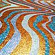 Абстракция ручной работы. Заказать Волны (мозаичный декор). Мозаика&роспись (mosaicdecor). Ярмарка Мастеров. Мозаичное панно, золото