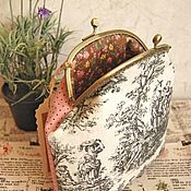 Сумки и аксессуары handmade. Livemaster - original item Cosmetic bag with clasp