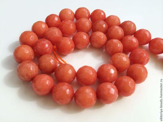 Для украшений ручной работы. Ярмарка Мастеров - ручная работа. Купить Агат оранжевый бусины 10 мм огранка. Handmade.