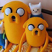Куклы и игрушки ручной работы. Ярмарка Мастеров - ручная работа Мягкая игрушка Джейк (Jake) Время приключений (Adventure Time). Handmade.