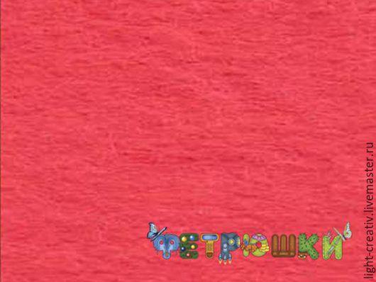 Валяние ручной работы. Ярмарка Мастеров - ручная работа. Купить Коралловый фетр п/ш 20x30 см 1,2 мм, пр-во Испания. Handmade.