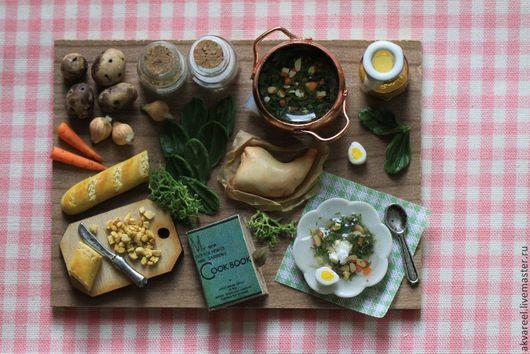 Еда ручной работы. Ярмарка Мастеров - ручная работа. Купить Щи из щавеля с гренками. (серия Книга рецептов). Handmade. Еда