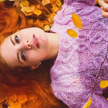Одежда ручной работы. Ярмарка Мастеров - ручная работа Свитер ,, Брусничная осень ,,. Handmade.