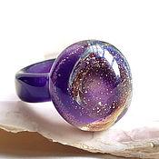 Украшения handmade. Livemaster - original item Purple universe ring Murano glass, size 18. Handmade.