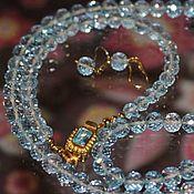 """Комплект """"Нежность"""": ожерелье, браслет и серьги"""
