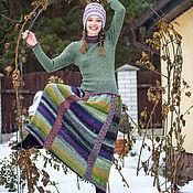 Одежда ручной работы. Ярмарка Мастеров - ручная работа Платье Норо (зелёное). Handmade.