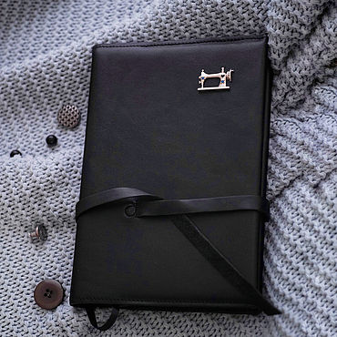 Stationery handmade. Livemaster - original item Needlewoman`s diary, leather notebook with silver brooch. Handmade.
