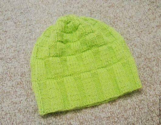 """Шапки ручной работы. Ярмарка Мастеров - ручная работа. Купить Шапка """"Зеленое яблоко"""". Handmade. Однотонный, ярко-зелёный, шапка"""