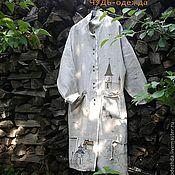Одежда ручной работы. Ярмарка Мастеров - ручная работа ЧУДЬ.  Пальто льняное. Handmade.