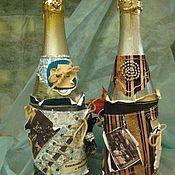 """Сувениры и подарки ручной работы. Ярмарка Мастеров - ручная работа Бутылка """"Праздничная"""" для мужчин. Handmade."""