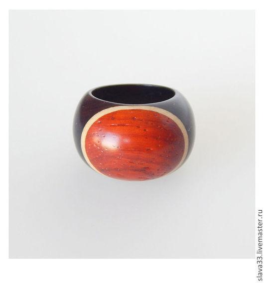 Кольца ручной работы. Ярмарка Мастеров - ручная работа. Купить Яркий перстень из дерева.. Handmade. Перстень, бижутерия из дерева