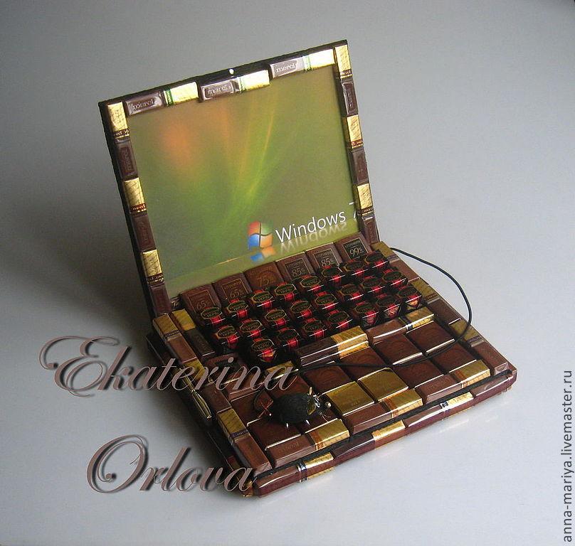 как сделать ноутбук из конфет