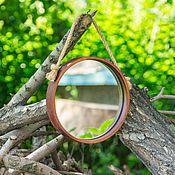 Для дома и интерьера handmade. Livemaster - original item Mirror natural wood Siberian pine 230 mm Z1. Handmade.