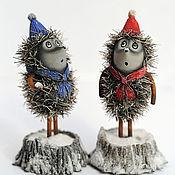 Куклы и игрушки ручной работы. Ярмарка Мастеров - ручная работа Зимние ёжики. Handmade.