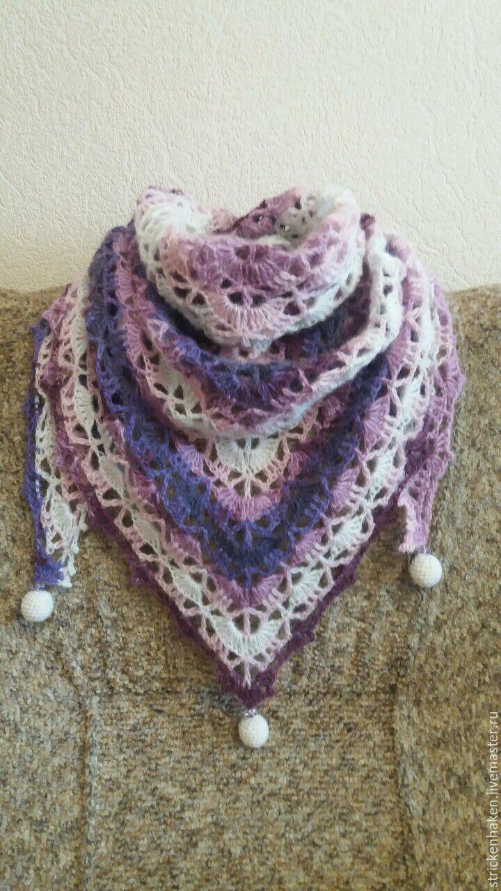 Вязание крючком платок бактус