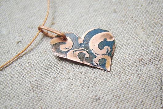 Кулоны, подвески ручной работы. Ярмарка Мастеров - ручная работа. Купить кулон подвеска Сердце - подарок на святого валентина. Handmade.