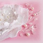 """Свадебный салон ручной работы. Ярмарка Мастеров - ручная работа Цветок для прически """"Романтика"""" (белый). Handmade."""