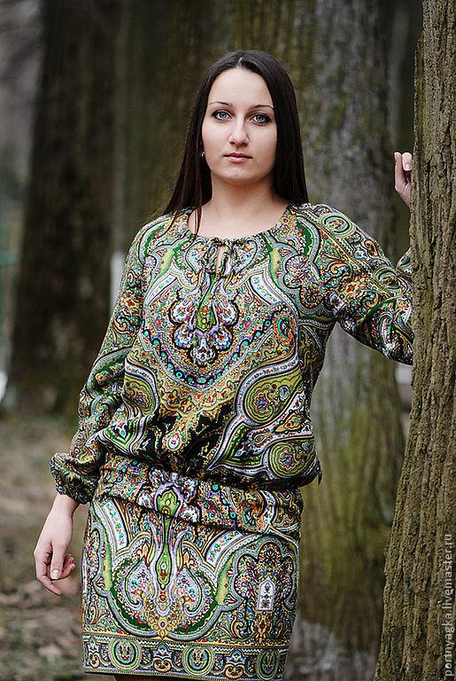 Платья ручной работы. Ярмарка Мастеров - ручная работа. Купить Платье  Веринея из  ППП. Handmade. Зеленый, оригинальное платье, оливковый