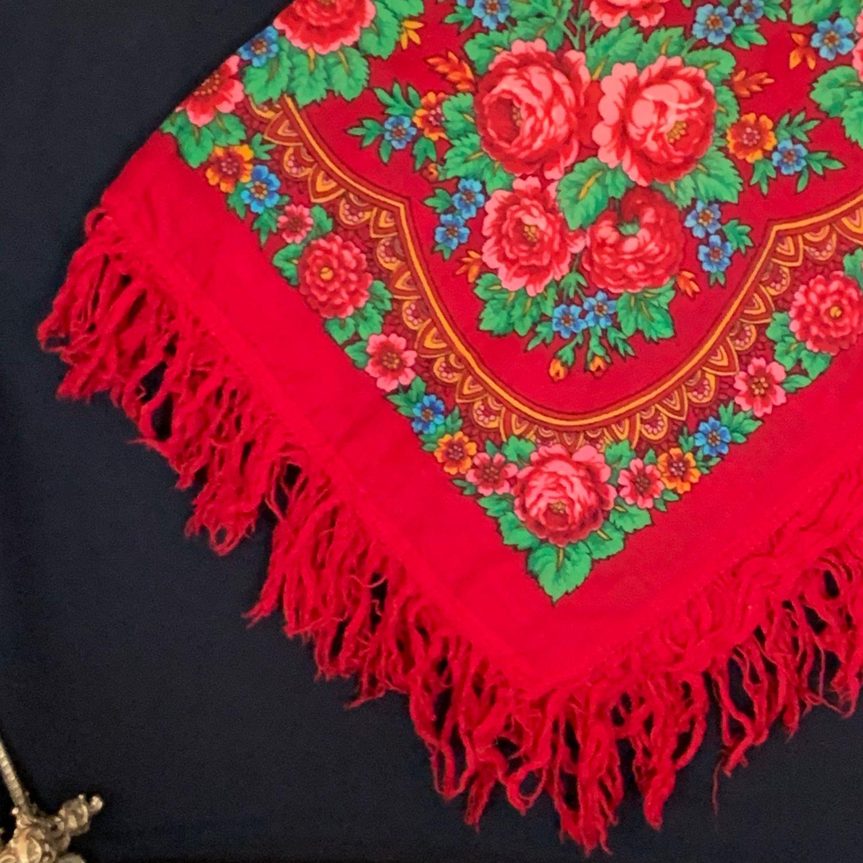 старинные павлопосадские платки